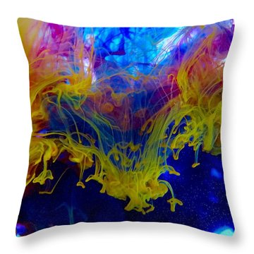 Ink Explosion 9 Throw Pillow by Lilia D