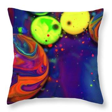 Ink Fusion Throw Pillow