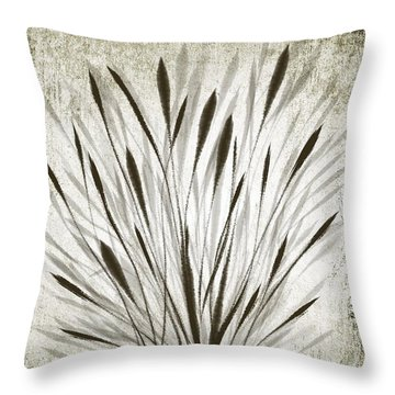 Ink Grass Throw Pillow