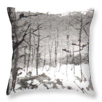 Ink Landscape 1 Throw Pillow