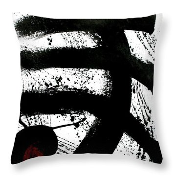Ink On Paper Rose #1 Vertical Ink Landscape Original Fine Art Ink On Paper Throw Pillow