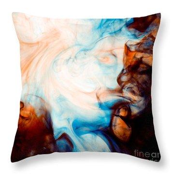 Ink Swirls 001 Throw Pillow