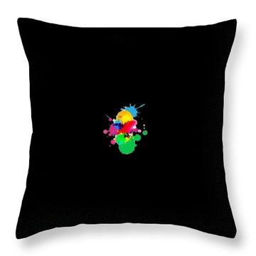 Inkblots T-shirt Throw Pillow by Herb Strobino