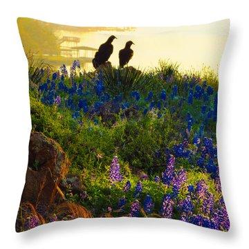 Da228 Inks Lake Love Daniel Adams Throw Pillow