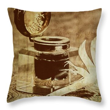 Inkwell V Throw Pillow