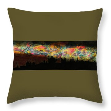 Inky Inky Night II Throw Pillow