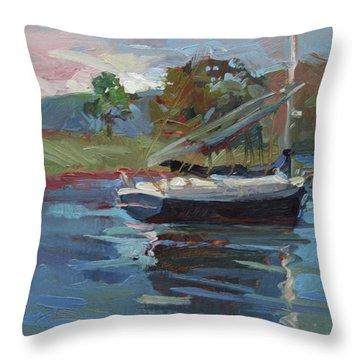 Inland Bay - Catalina Island Throw Pillow