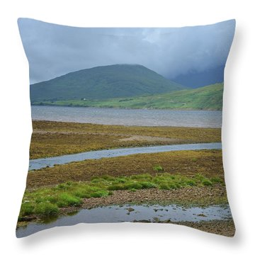 Inland Shores Of Aasleagh Throw Pillow