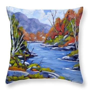 Inland Water Throw Pillow by Richard T Pranke