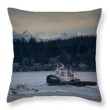 Throw Pillow featuring the photograph Inlet Crusader by Randy Hall