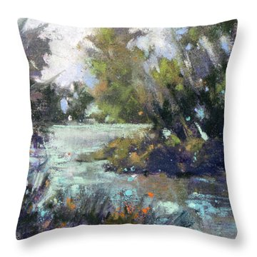 Inlet Haven Throw Pillow by Rae Andrews