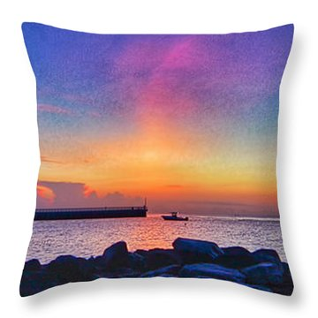 Inlet Sunrise Throw Pillow by Don Durfee