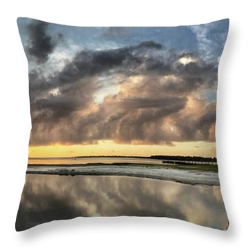 Inlet Sunrise Panorama Throw Pillow