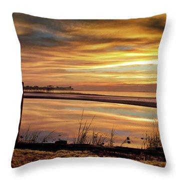 Inlet Watch At Dawn Throw Pillow