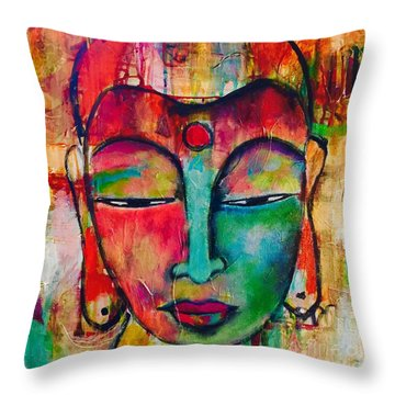 Inner Buddha  Throw Pillow