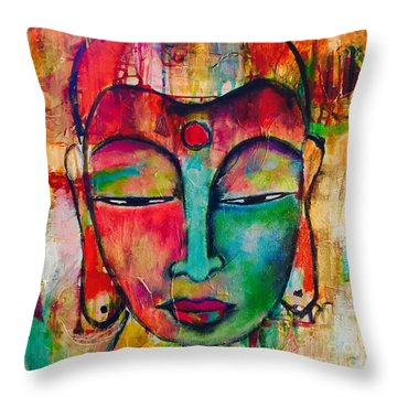 Inner Buddha  Throw Pillow