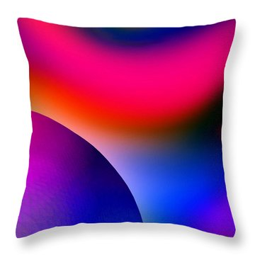 Inner Cosmos 2 Red I Diptych Right  Contemporary Digital Art Throw Pillow