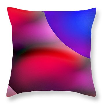 Inner Cosmos 2 Red II Diptych Left  Contemporary Digital Art Throw Pillow