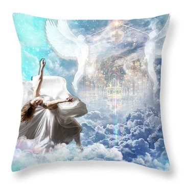 Inner Courts Throw Pillow by Dolores Develde