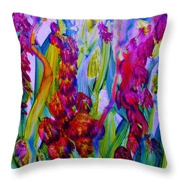 Inner Earth Garden Throw Pillow