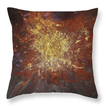Throw Pillow featuring the painting Inner Fire by Michael Lucarelli