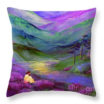 Inner Flame, Meditation Throw Pillow