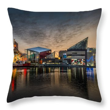 Inner Harbour  Throw Pillow