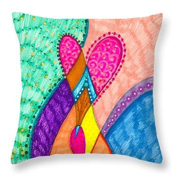 Inner Heart - V Throw Pillow