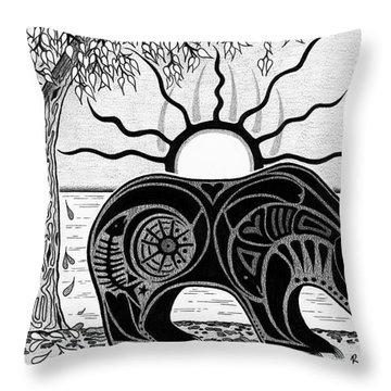 Inner Rhythm Throw Pillow