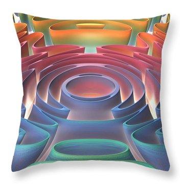 Throw Pillow featuring the digital art Inner Sanctum by Lyle Hatch