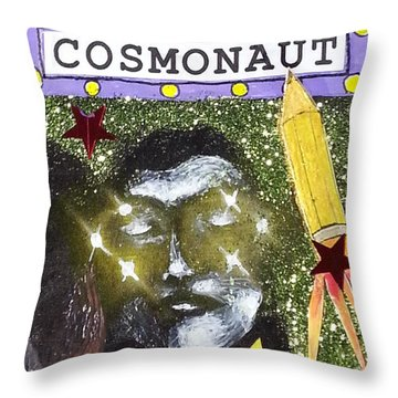 Aceo - Inner Space Cosmonaut Throw Pillow