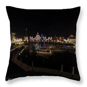Inner Harbour Of Victoria Bc Throw Pillow