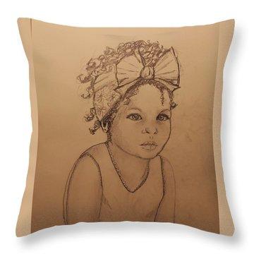 Sugar Baby ... Drawing Throw Pillow