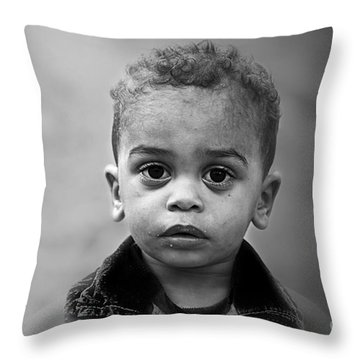 Innocence Throw Pillow by Charuhas Images