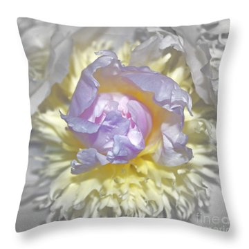 Innocence Throw Pillow by Gwyn Newcombe