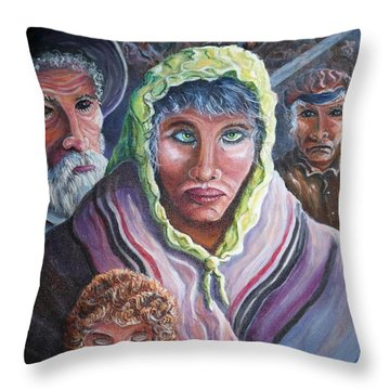Innocence, Hope, Fear And Courage Throw Pillow