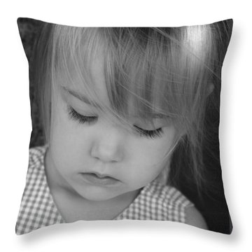 Innocence Throw Pillow by Margie Wildblood
