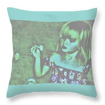 Innocence Throw Pillow by Marsha Heiken