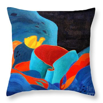 Inorganic Incandescence Throw Pillow by Lynne Reichhart