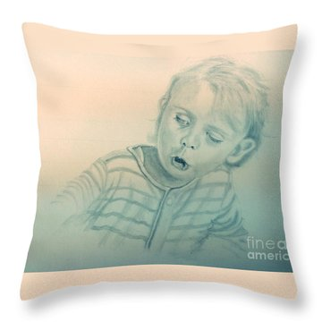 Inquisitive Child Throw Pillow