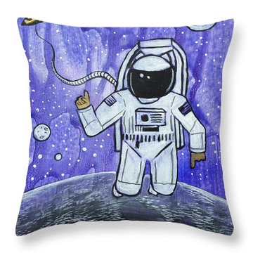 Throw Pillow featuring the painting Inquisitive Explorer by Nathan Rhoads