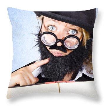 Black Chin Throw Pillows