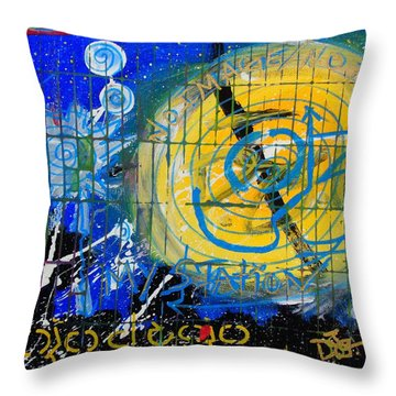I.n.s Throw Pillow