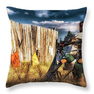 Throw Pillow featuring the photograph Insanity by Bitter Buffalo Photography