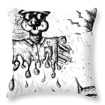 Insanity Throw Pillow by Jera Sky