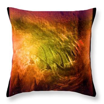 Insanity Throw Pillow by John Krakora