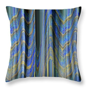 The Ins And Outs - Fabric Art - Photograph Manipulation Throw Pillow by Brooks Garten Hauschild
