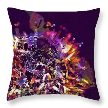 Throw Pillow featuring the digital art Insect Bug Bee Beetle  by PixBreak Art