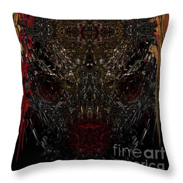 Throw Pillow featuring the digital art  Insecticidal  by Reed Novotny