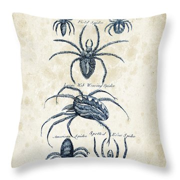 Insects - 1792 - 18 Throw Pillow by Aged Pixel
